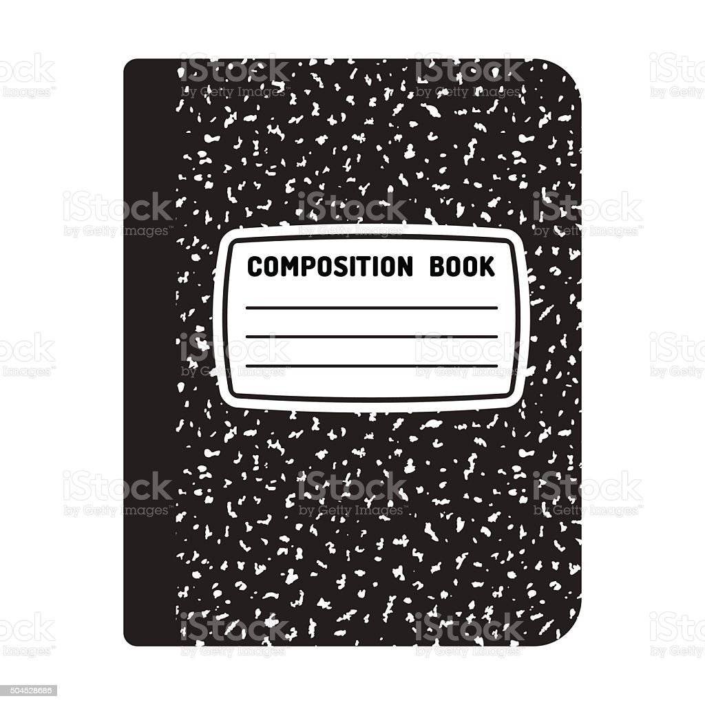 Composition notebook illustration vector art illustration