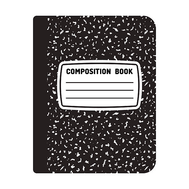 composition notebook illustration - composition stock illustrations