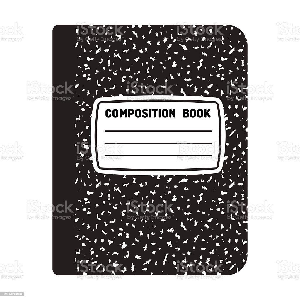 Composition Notebook Illustration Vector Art Illustration