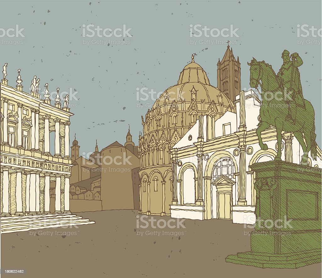 Composition of Italian Architecture royalty-free composition of italian architecture stock vector art & more images of architecture