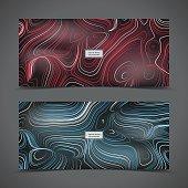 Background, Cards, Set, Stripes