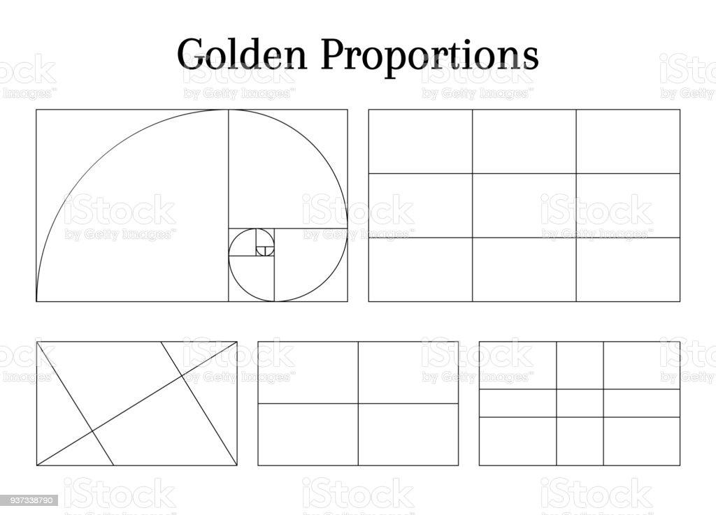 Composition proportion guidelines - Векторная графика Без людей роялти-фри