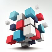 Composition with 3d cubes
