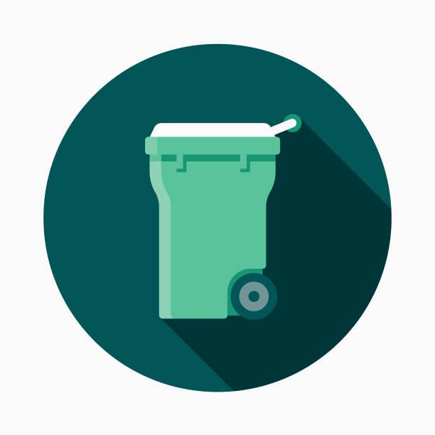 illustrazioni stock, clip art, cartoni animati e icone di tendenza di compost bin flat design gardening icon with side shadow - composting