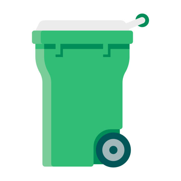 illustrazioni stock, clip art, cartoni animati e icone di tendenza di icona del raccoglitore di compost su sfondo trasparente - composting