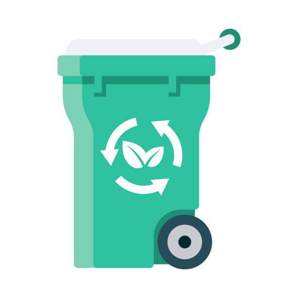 compost bin icon on transparent background - composting stock illustrations