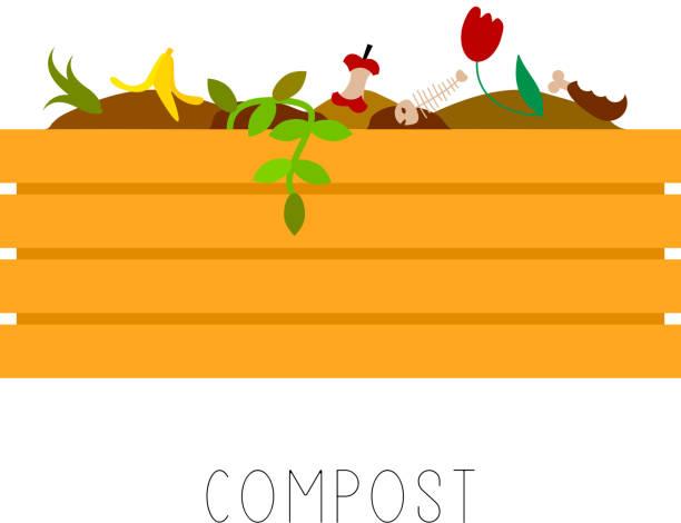 Compost vector illustration Compost vector illustration annelid stock illustrations