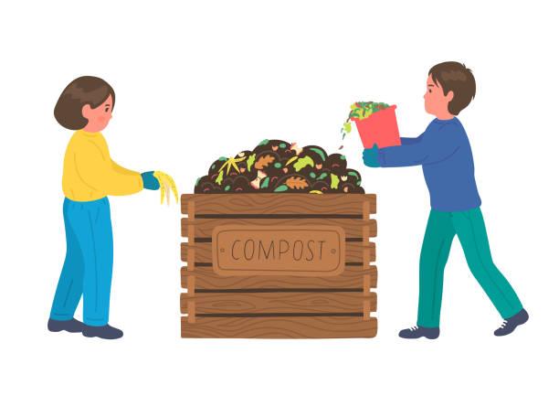 ilustraciones, imágenes clip art, dibujos animados e iconos de stock de compostaje - leftovers