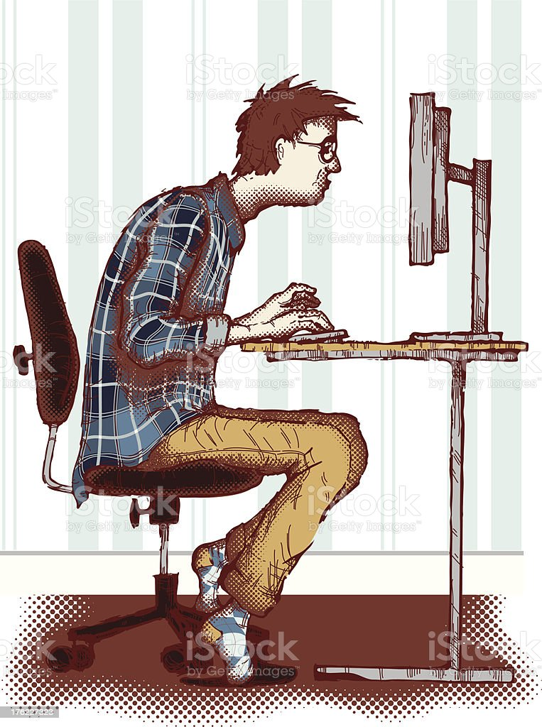 Computer addiction royalty-free computer addiction stock vector art & more images of addiction