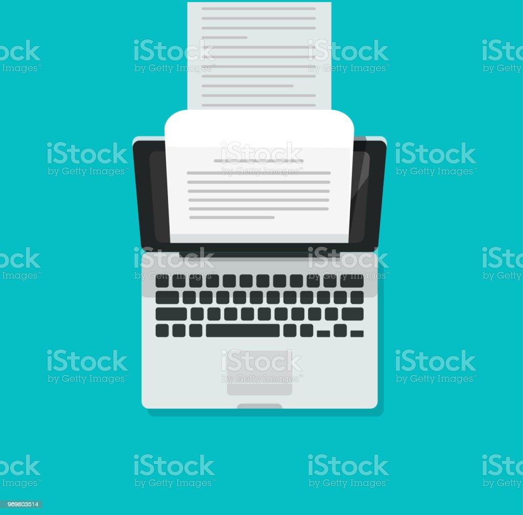 Computer Aka Schreibmaschinevektorillustration Flache Cartoon Laptop
