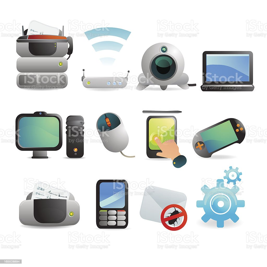Computer & Technology Icons royalty-free computer amp technology icons stock vector art & more images of backgrounds