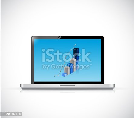 istock Computer and business graph illustration design 1288157129