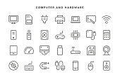 Computer and Hardware Icons - Vector EPS 10 File, Pixel Perfect 28 Icons.