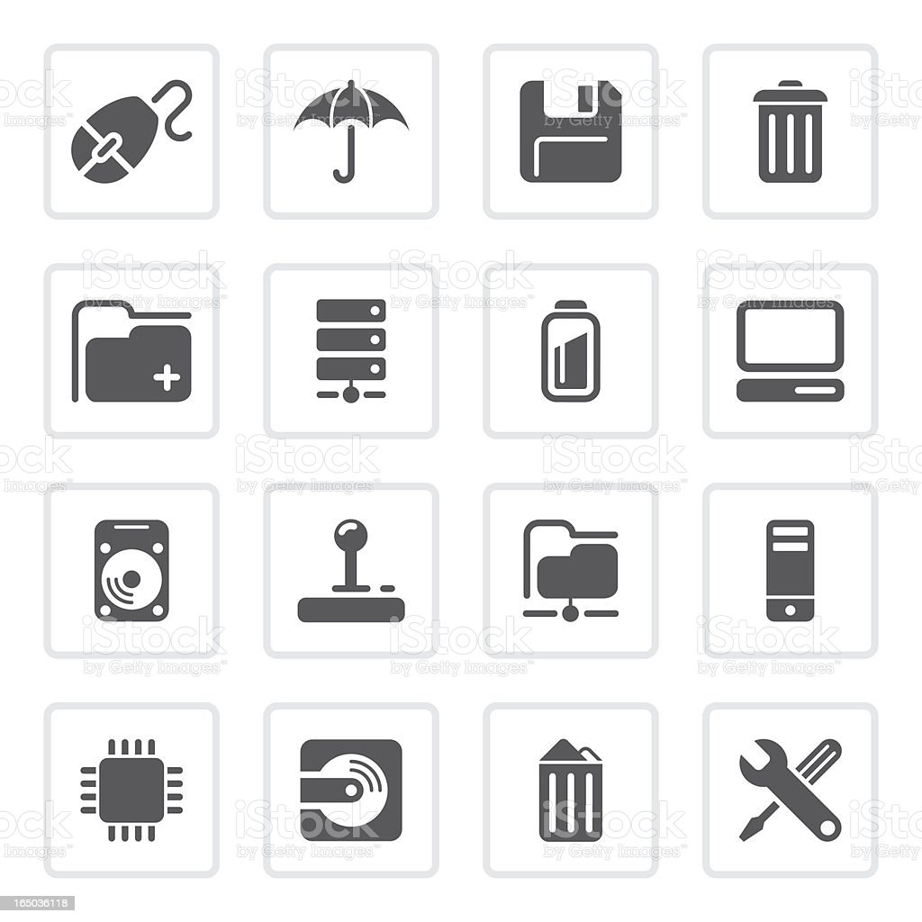 Computer and peripherals icons | prime series royalty-free computer and peripherals icons prime series stock vector art & more images of cpu