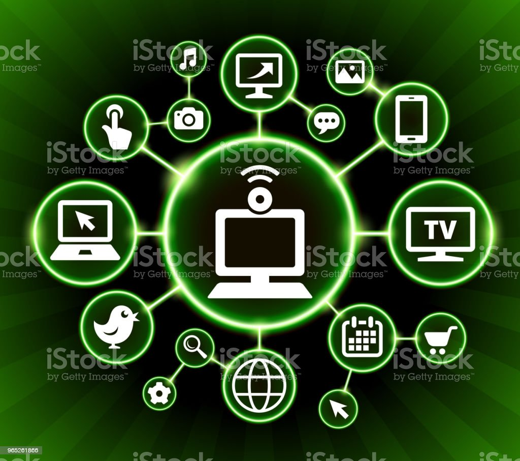 Computer and Video Chat Internet Communication Technology Dark Buttons Background computer and video chat internet communication technology dark buttons background - stockowe grafiki wektorowe i więcej obrazów czarne tło royalty-free