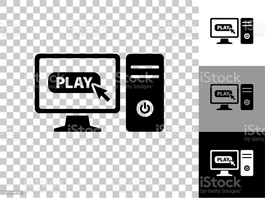 Computer And Video Games Icon On Checkerboard Transparent Background Stock Illustration Download Image Now Istock