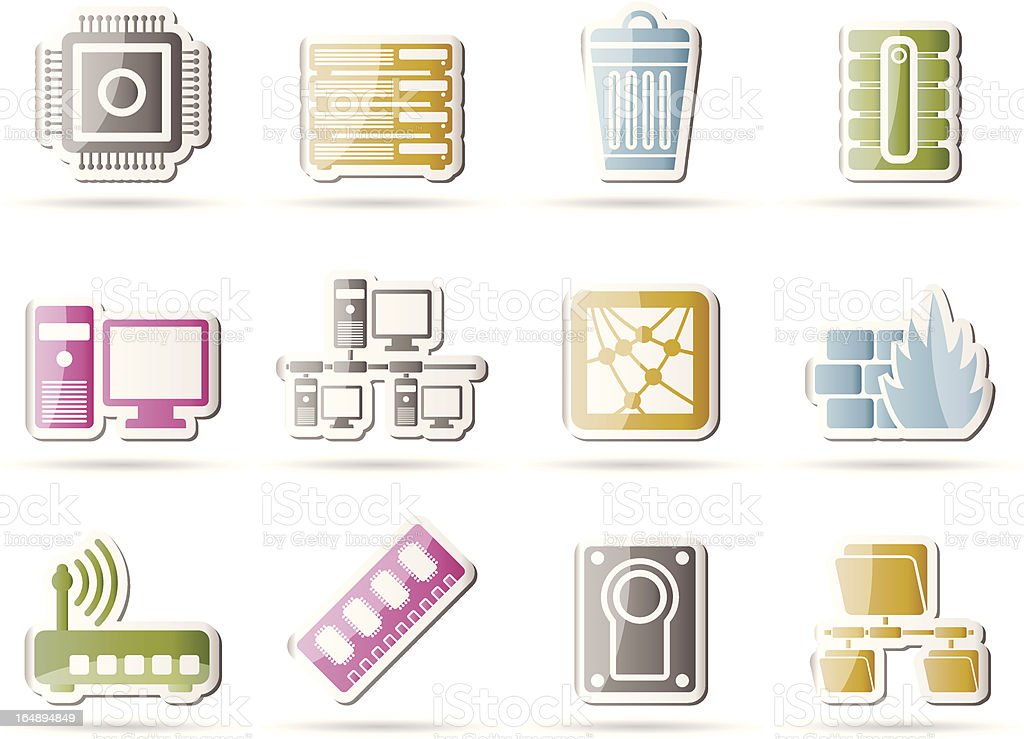 Computer and website icons royalty-free stock vector art