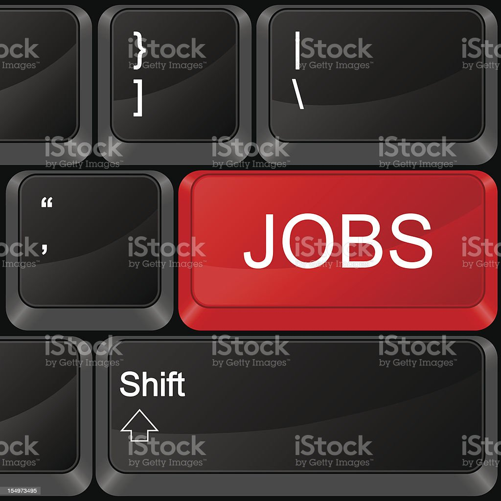 computer button jobs royalty-free computer button jobs stock vector art & more images of black color