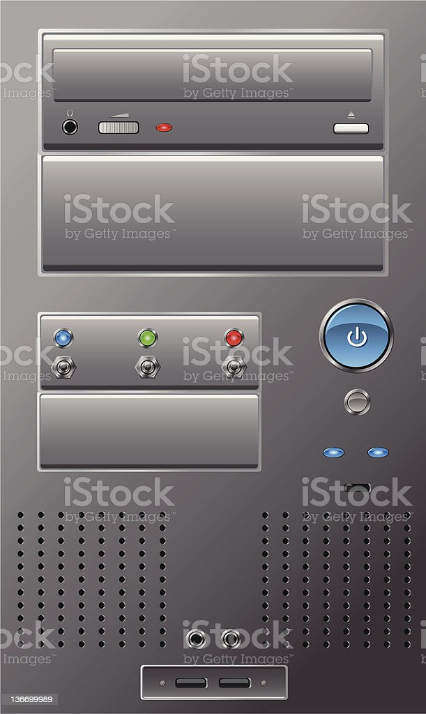 Computer Case Front - Elements [vector] royalty-free stock vector art