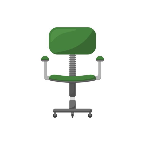 computerstuhl im flachen stil farbsymbol - stuhllehnen stock-grafiken, -clipart, -cartoons und -symbole