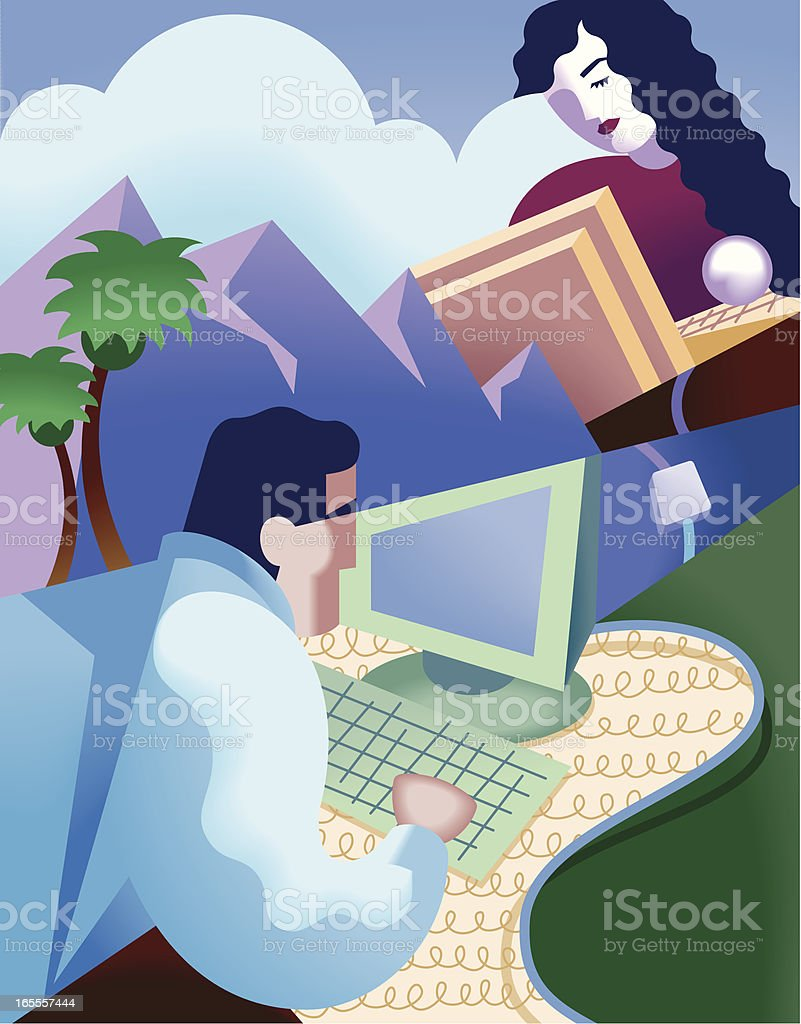 Computer Chat royalty-free computer chat stock vector art & more images of adult