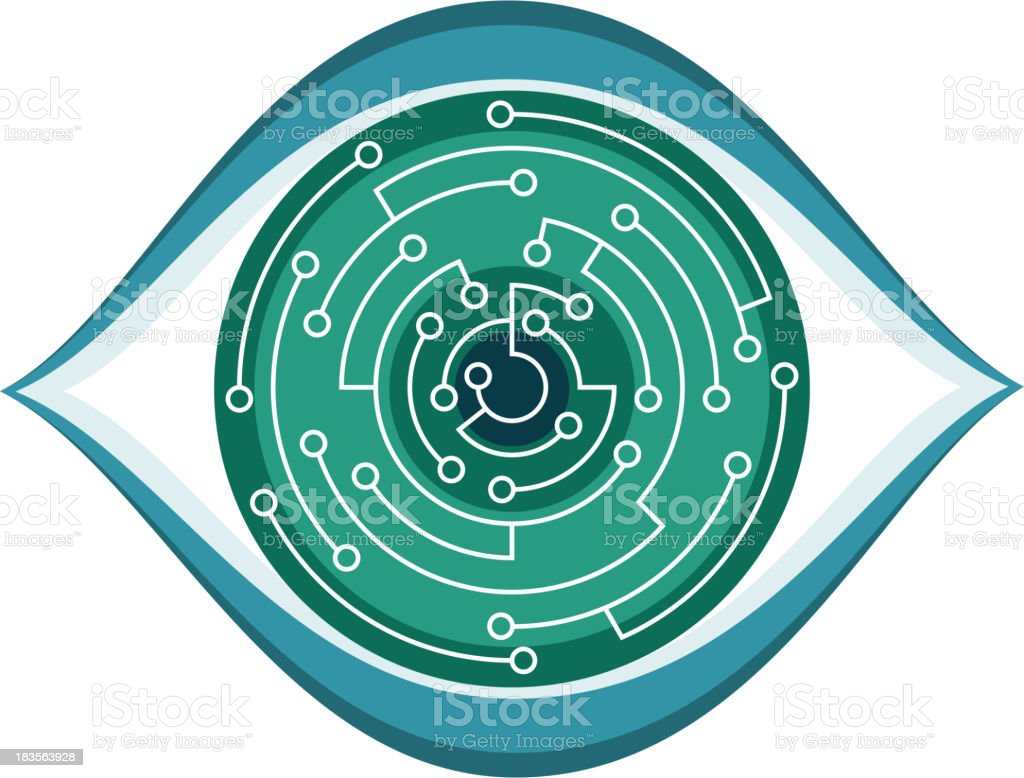 Computer Chip Eye royalty-free stock vector art