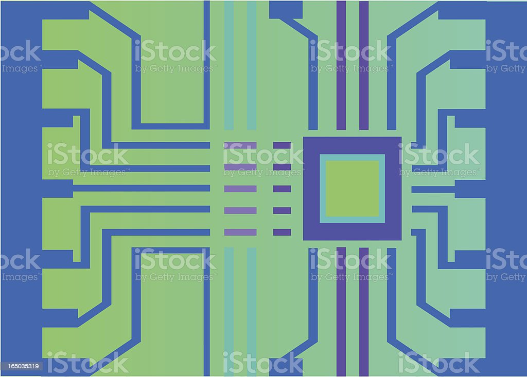 Computer chip - vector royalty-free stock vector art