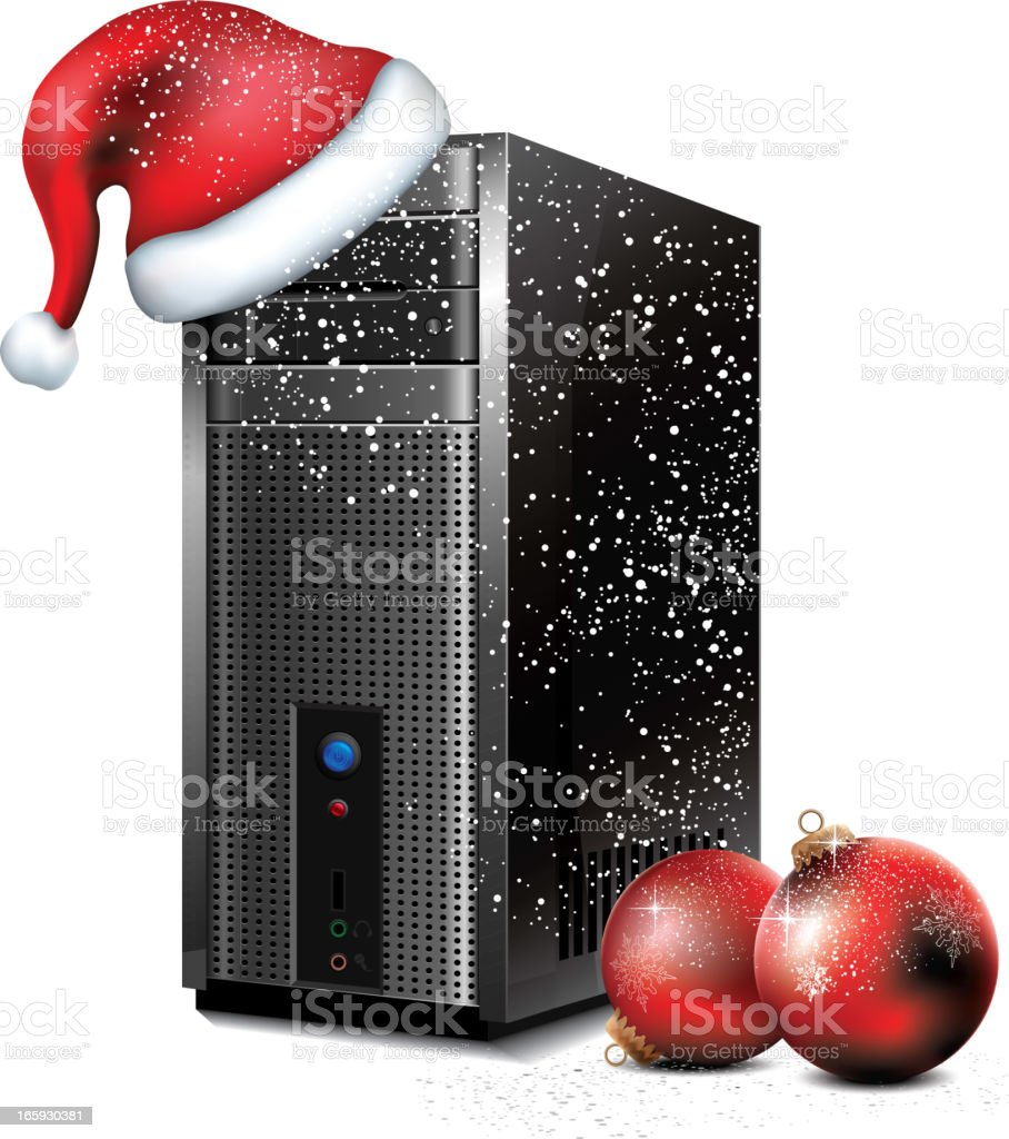 Computer Christmas Background royalty-free stock vector art