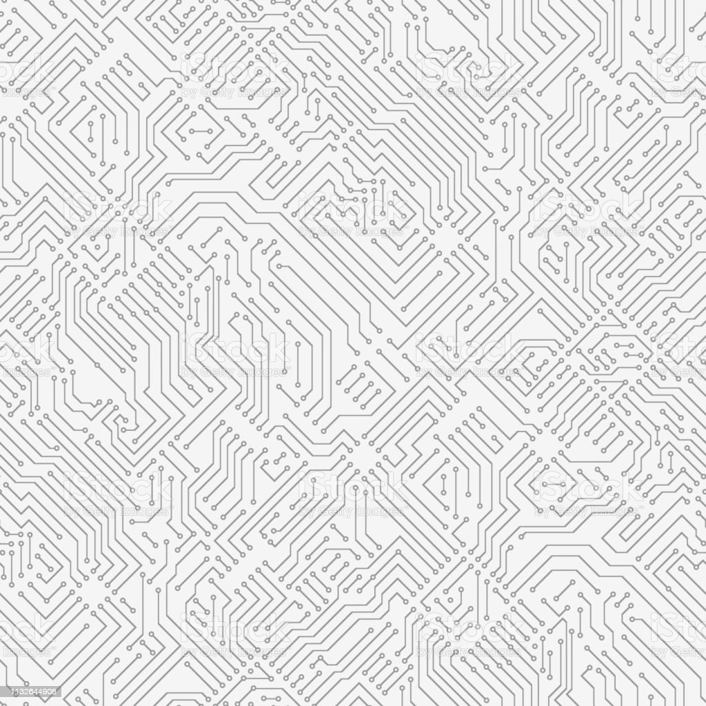 Dator kretskort. - Royaltyfri Abstrakt vektorgrafik