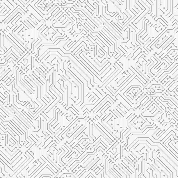 Computer circuit board. Computer circuit board. Seamless pattern information technology stock illustrations
