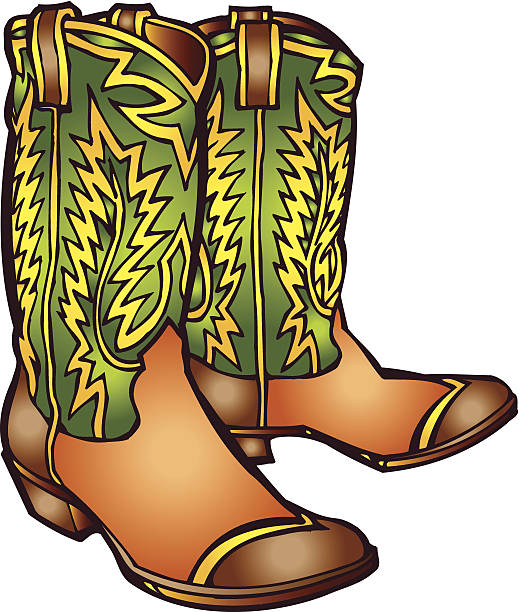 Best Cowboy Boot Illustrations, Royalty-Free Vector ... - photo#16