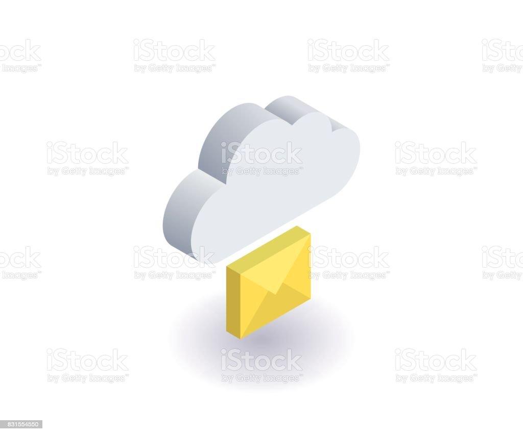 Computer cloud icon illustration vector symbol in flat isometric 3d computer cloud icon illustration vector symbol in flat isometric 3d style isolated on white buycottarizona Choice Image