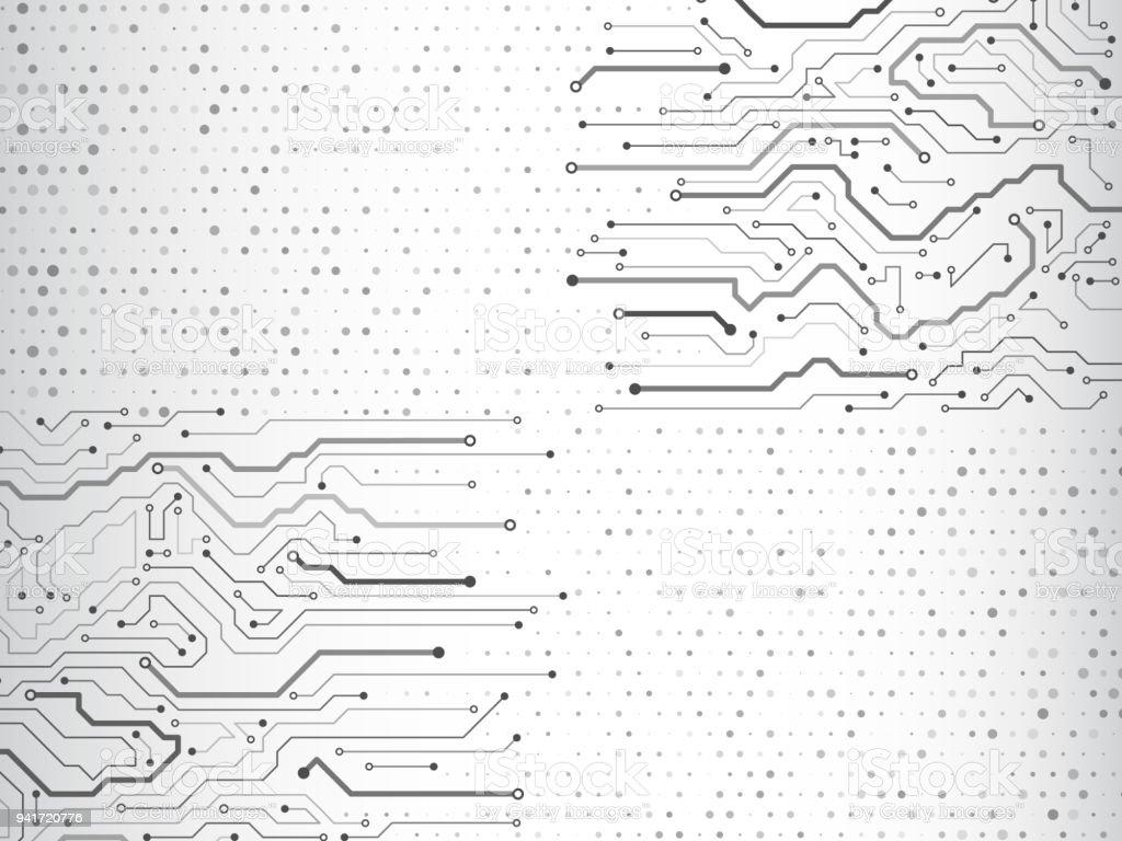 computer communication cybernetic element circuit board vector illustration stock illustration
