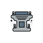 Computer component DVI gender concept Isolated Line Vector Illustration editable Icon