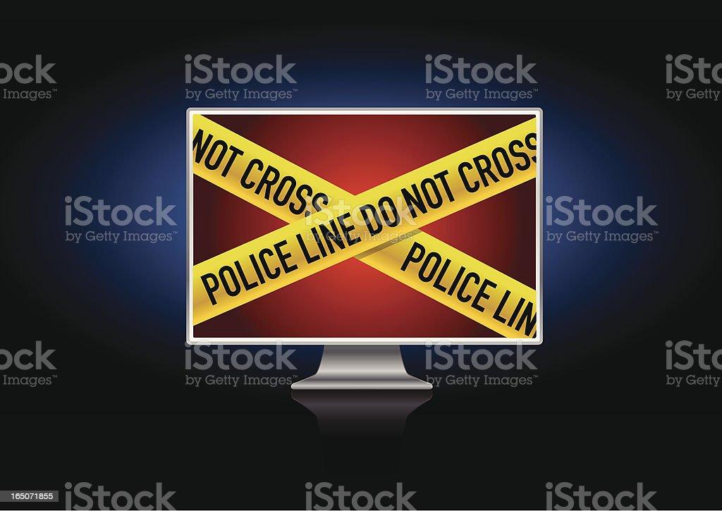 Computer crime royalty-free stock vector art