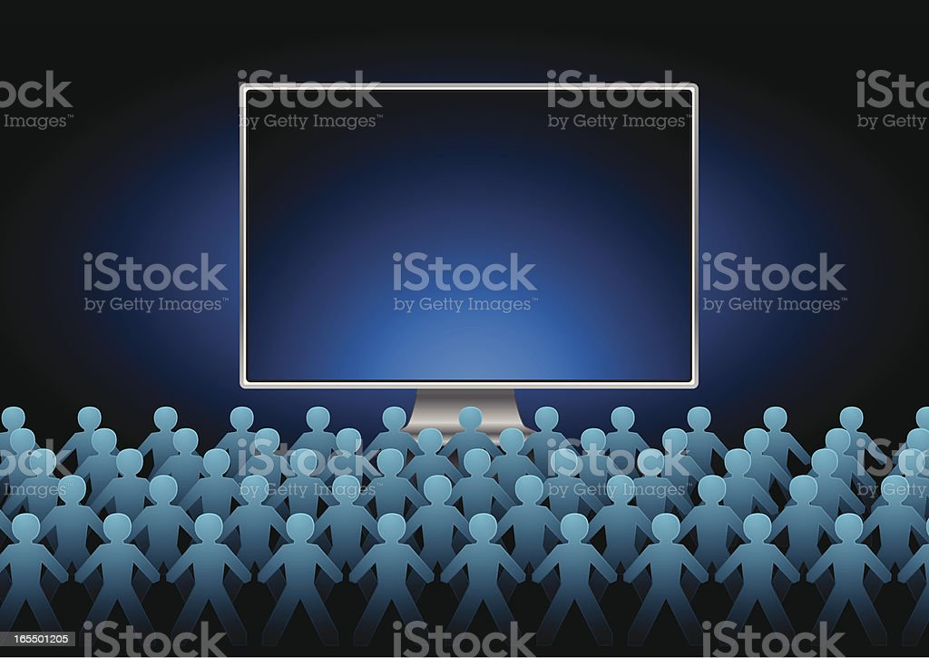 Computer crowd royalty-free stock vector art
