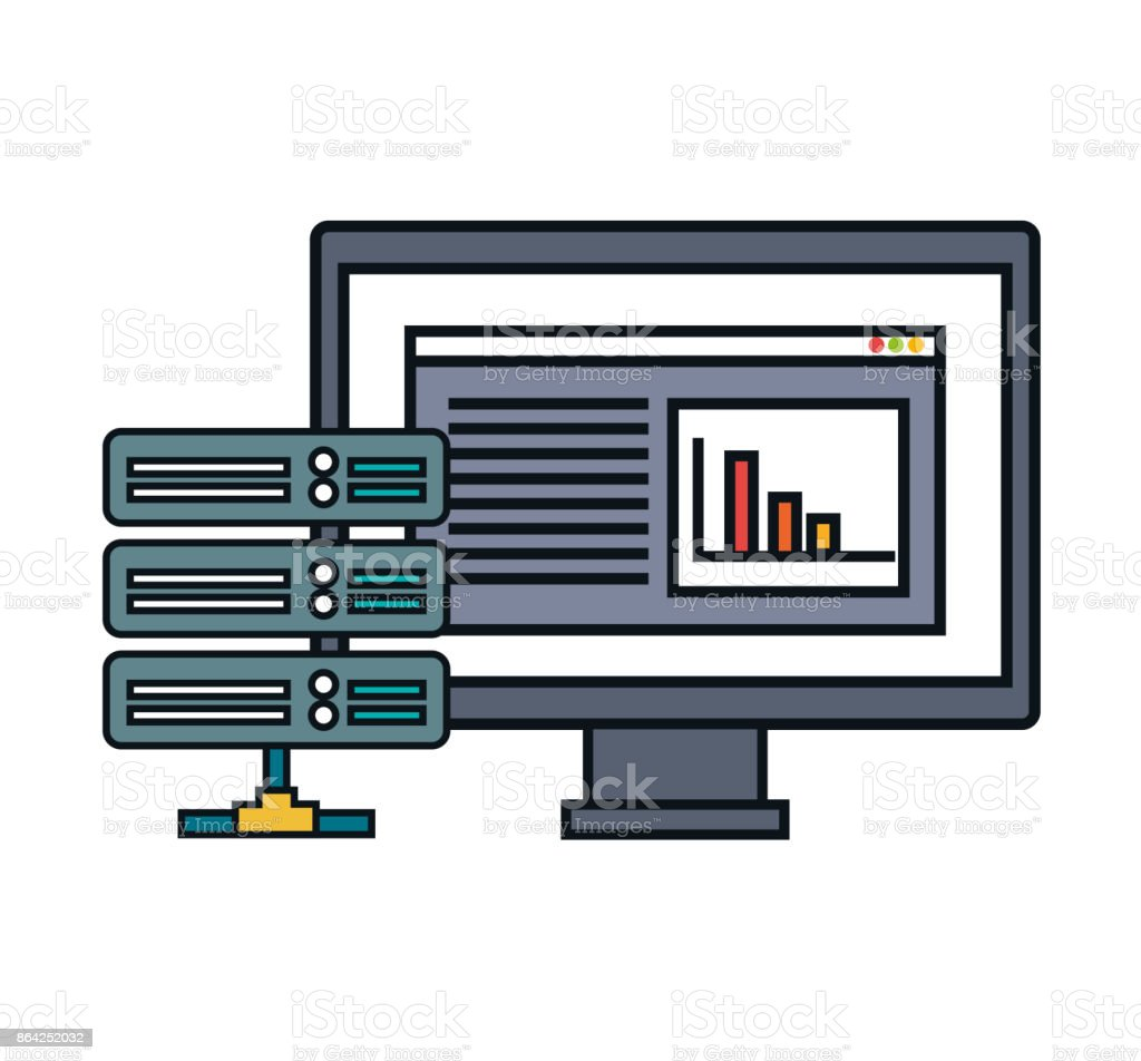 computer data center server isolated royalty-free computer data center server isolated stock vector art & more images of business