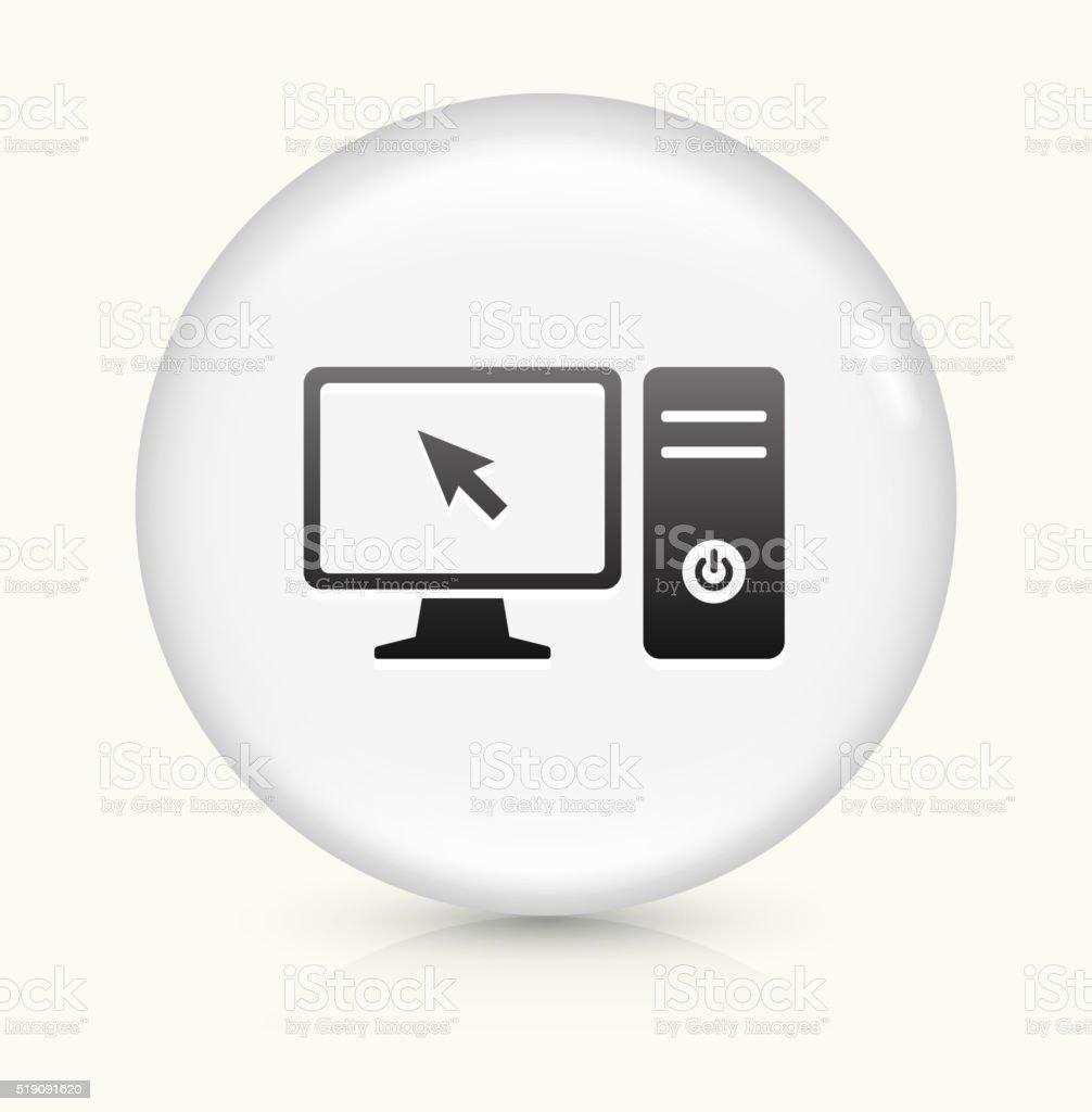 Computer Desktop Icon On White Round Vector Button Stock Vector Art