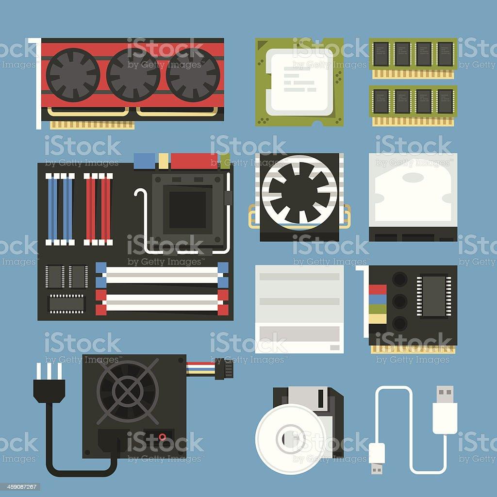computer device icon vector art illustration