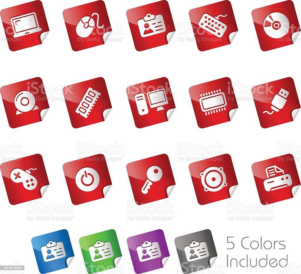 Computer & Devices // Stickers Series computer devices stickers series – cliparts vectoriels et plus d'images de affaires libre de droits