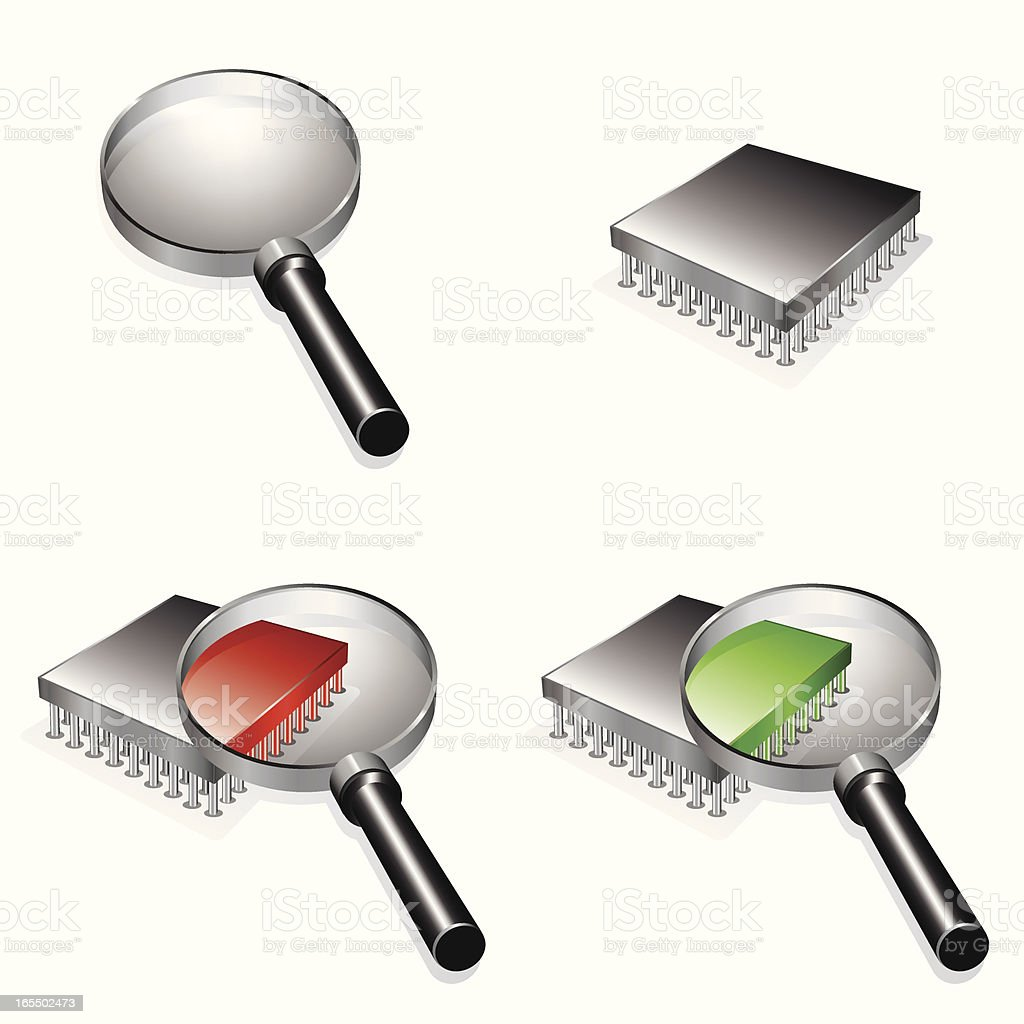 Computer Diagnostics Icons royalty-free stock vector art