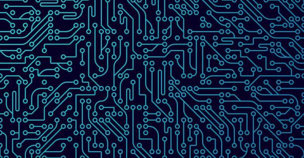 Fond numérique ordinateur - Illustration vectorielle