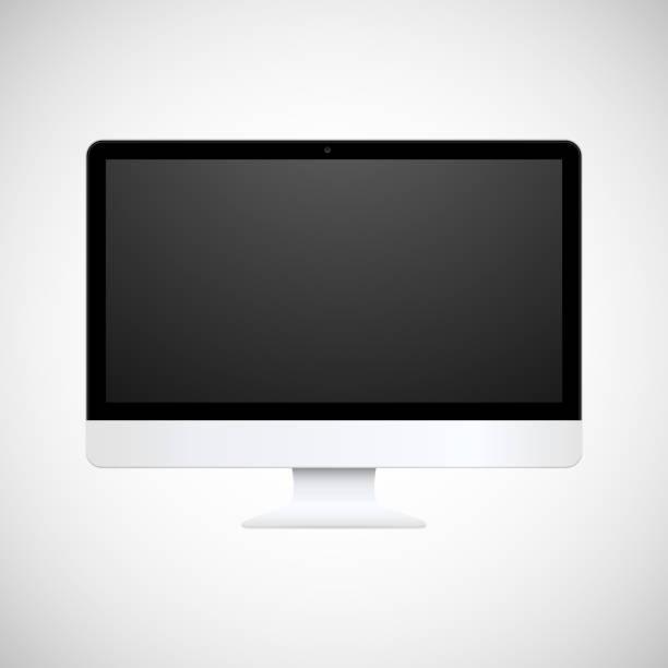 stockillustraties, clipart, cartoons en iconen met computer display - breed