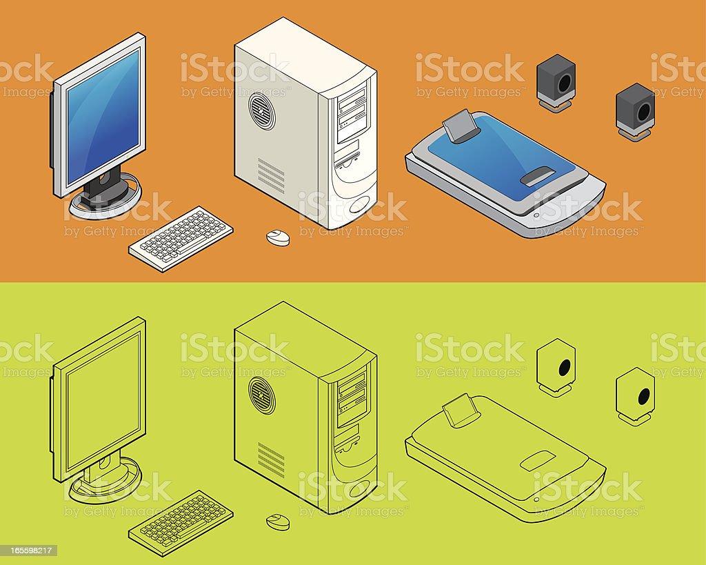 Elementos de ordenador ilustración de elementos de ordenador y más banco de imágenes de altavoz libre de derechos