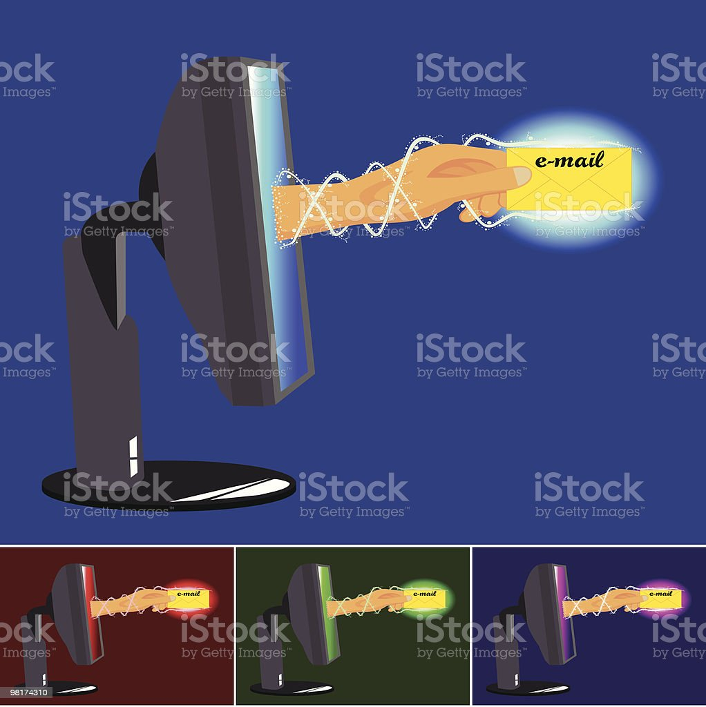 computer email royalty-free computer email stock vector art & more images of black color