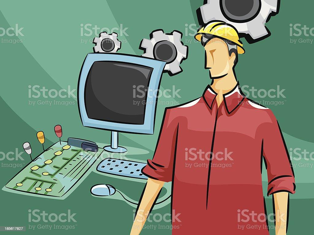 Computer Engineer royalty-free stock vector art