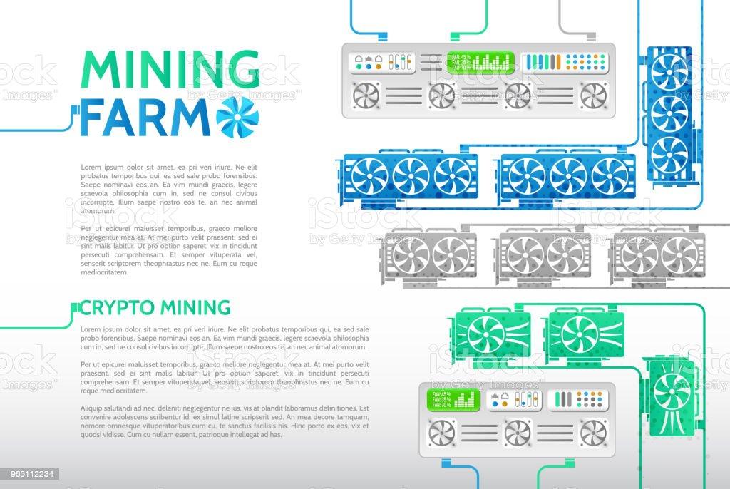 Computer equipment for mining cryptocurrency. computer equipment for mining cryptocurrency - stockowe grafiki wektorowe i więcej obrazów banknot royalty-free