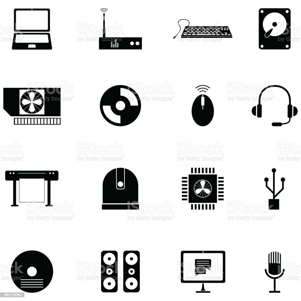 computer equipment icon set royalty-free computer equipment icon set stock vector art & more images of business