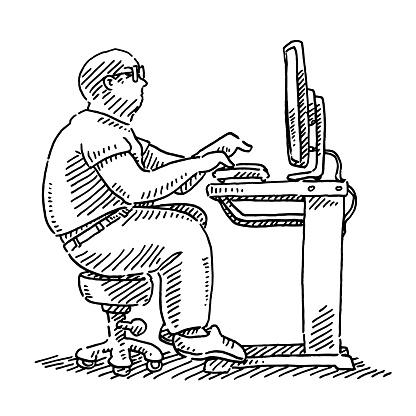 Computer Expert Drawing