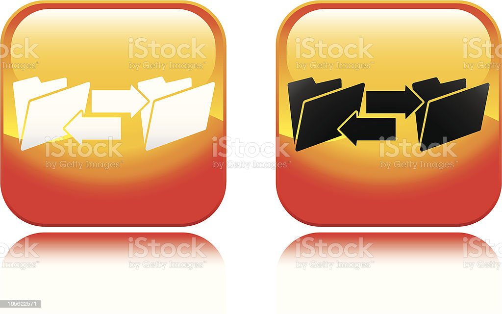 Computer Folder Transfer Icon royalty-free stock vector art